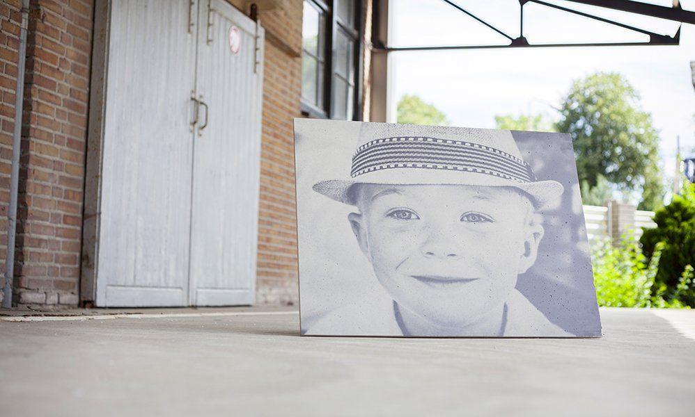 Portretfoto op beton