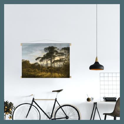 schilderij italiaans landschap textielposter