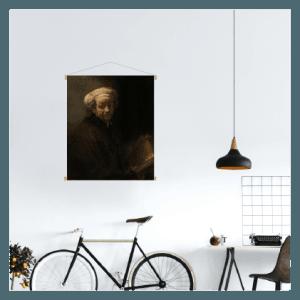 textielposter rembrandt zelfportret