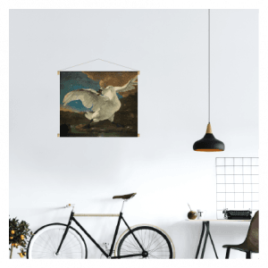 textielposter de bedreigde zwaan