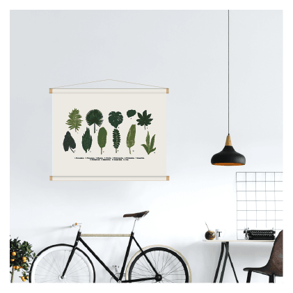 botanische print textielposter planten