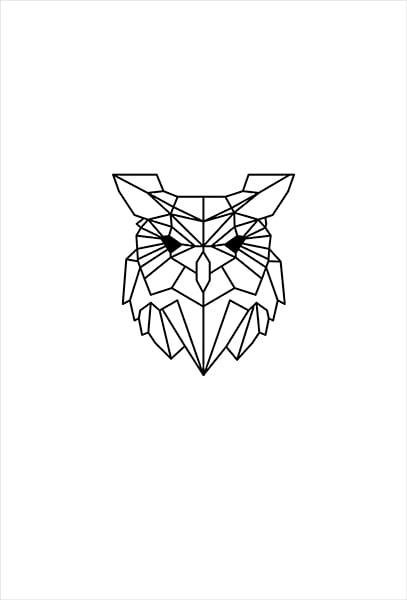 textielposter illustratie uil