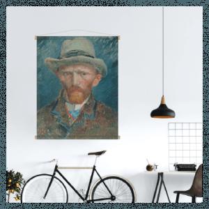textielposter oude meester vincent van gogh schilderij zelfportret