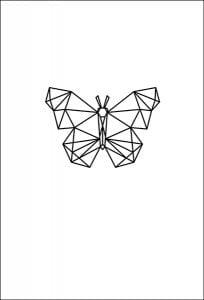 textielposter vlinder grafisch