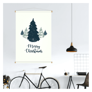 Textielposter - Kerst dennenboom