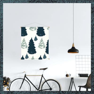 Textielposter Kerst - Dennenbos