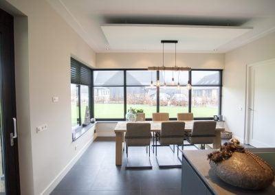 Geluidsabsorberend plafondpaneel in keuken
