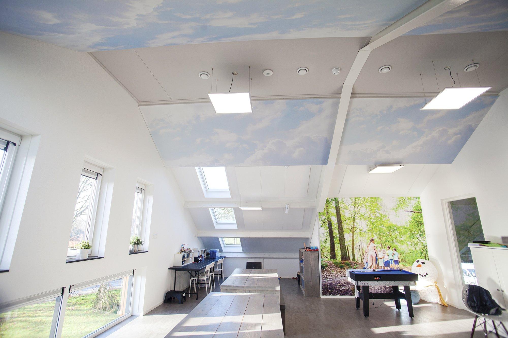 Geluidsabsorberend  plafond in een Kinderdagverblijf