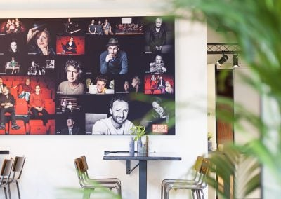 Akowall met fotoprint theater De Stoomfabriek