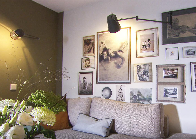 Foto op beton te zien op tv in uitzending vt wonen verhuist