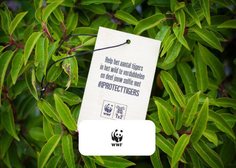 Bamboe shirtlabels voor WNF