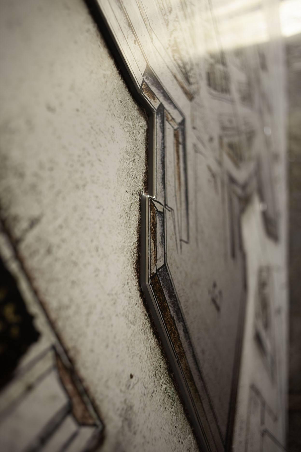 Station Coevorden, stadstekening op aluminium | Alu-inprint