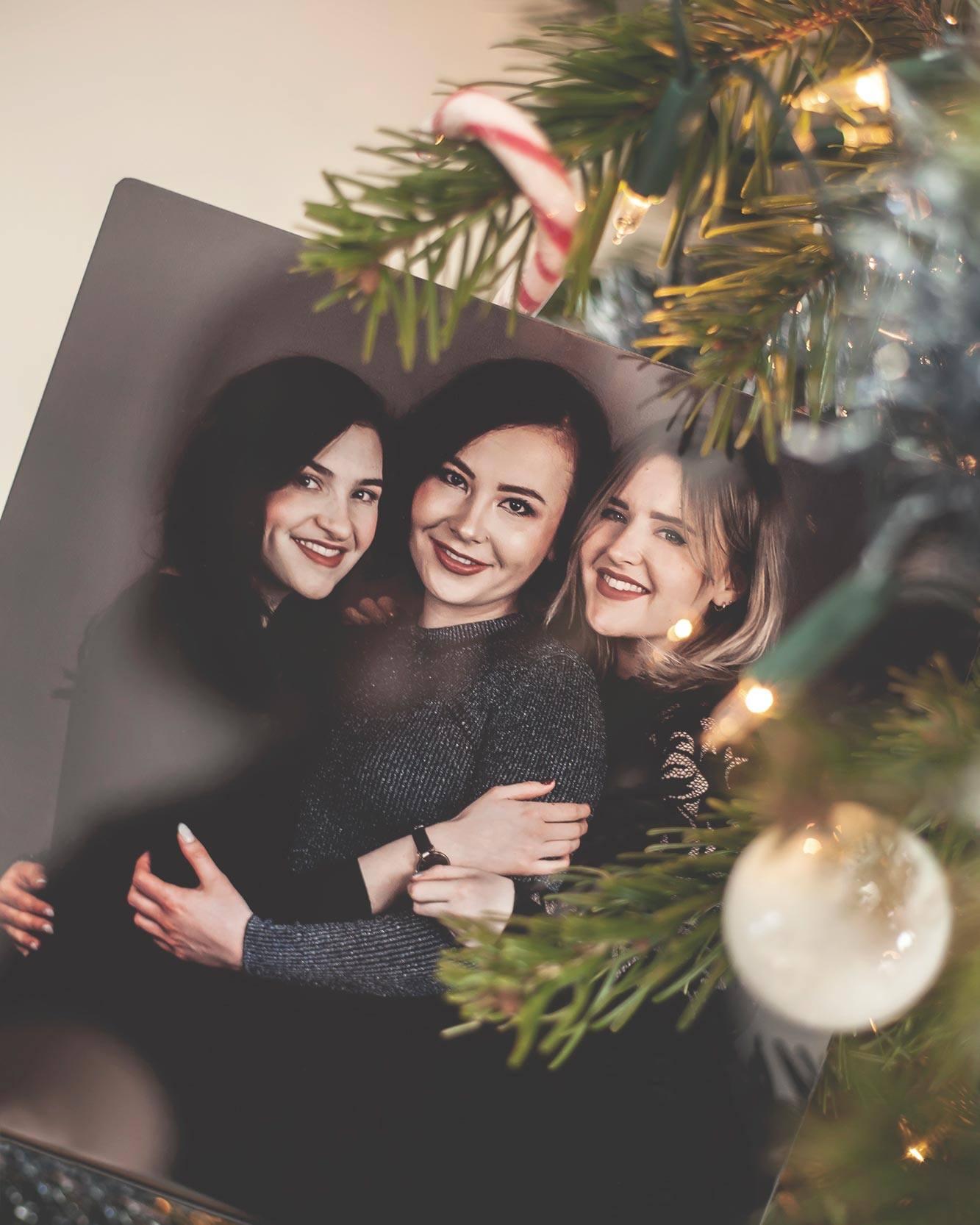 Foto geprint op HD Metal van 3 zussen