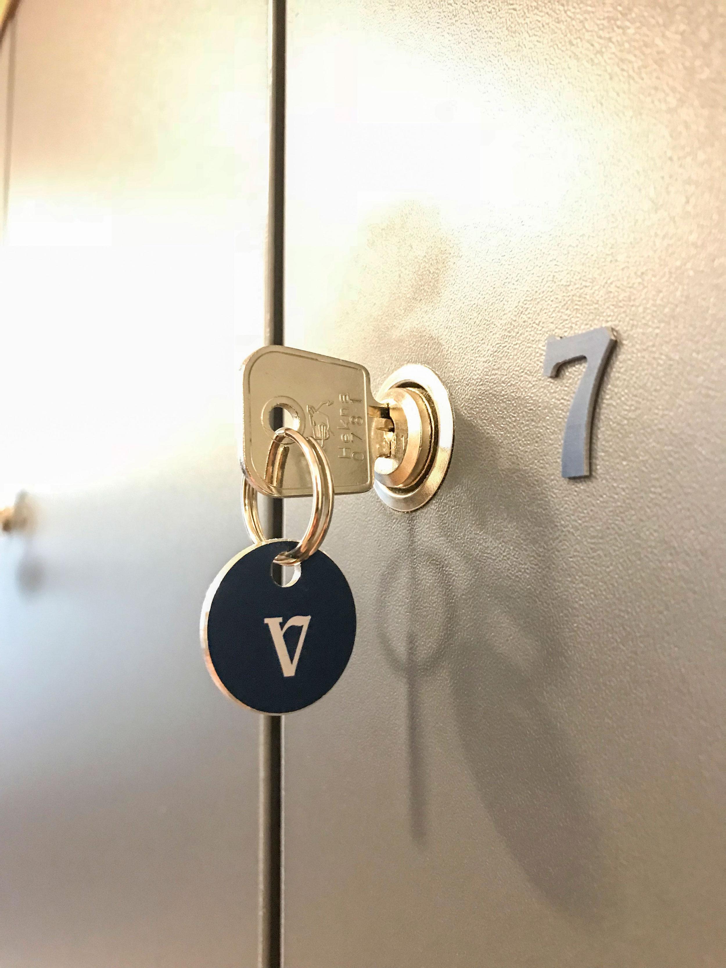 Alu-inprint sleutelhanger en lockernummer | Alu-inprint